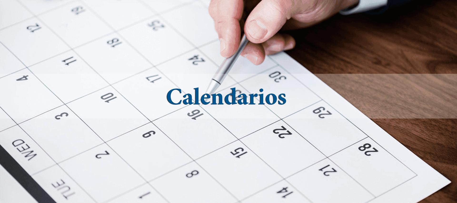 Calendario Académico 2020.